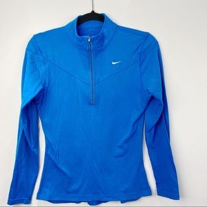 Nike 3/4 zip mock neck pullover running top